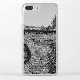 Round Window bw Clear iPhone Case