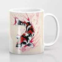 koi Mugs featuring Koi by Puddingshades