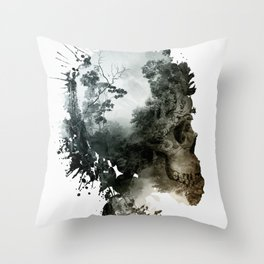 Skull - Metamorphosis Throw Pillow