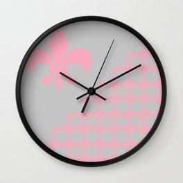 Offset Pink Fleur Wall Clock
