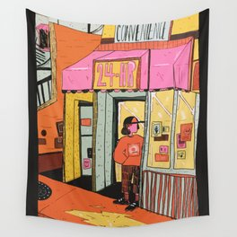 24 hr convenience Wall Tapestry