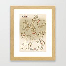 Scotties Framed Art Print
