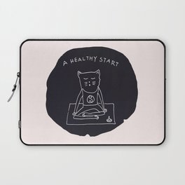 Relax Cat, A Healthy Start, Meditation Laptop Sleeve