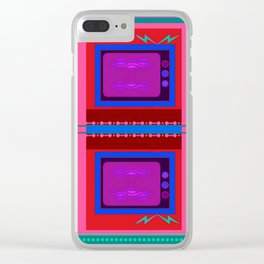 White Noise Clear iPhone Case