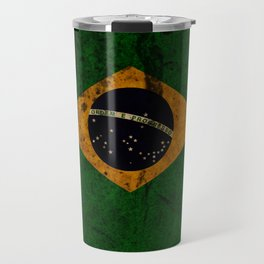 Brazil grunge vintage Flag Travel Mug