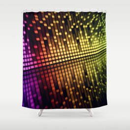 sound mixer equalizer Shower Curtain