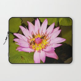 Lotus Flower and Bees Laptop Sleeve
