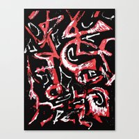 calligraphy Canvas Prints featuring calligraphy by Martha Calderon