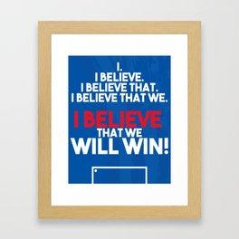 US Soccer - I Believe That We Will Win Framed Art Print