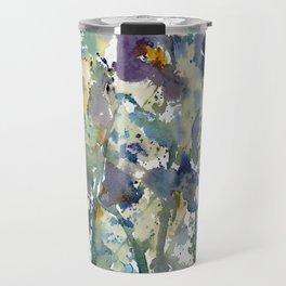 Iris Garden watercolor painting Travel Mug