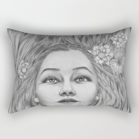 Lady July - preparing for the summer Rectangular Pillow