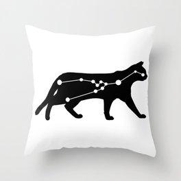 taurus cat Throw Pillow