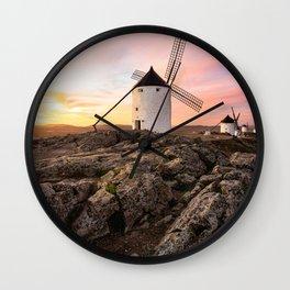 Old windmill in Spain Wall Clock