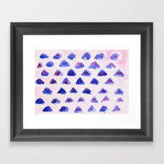 Mini Mountains Framed Art Print