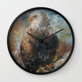 Bald Eagle on Birch Wall Clock