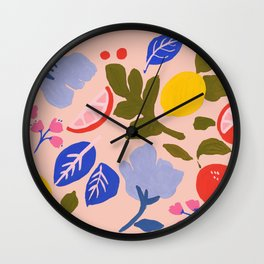 Arancia Rossa Wall Clock