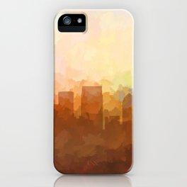 Atlanta, Georgia Skyline - In the Clouds iPhone Case