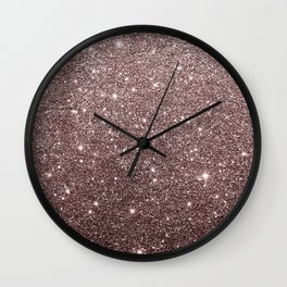 Modern mauve burgundy rose gold glitter Wall Clock