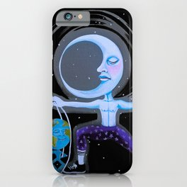 Moon Dude Earth Marionette iPhone Case