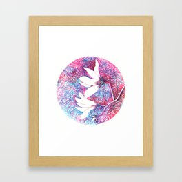First magnolias Framed Art Print