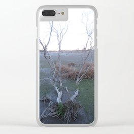 Knocked Over Bent Tree Clear iPhone Case