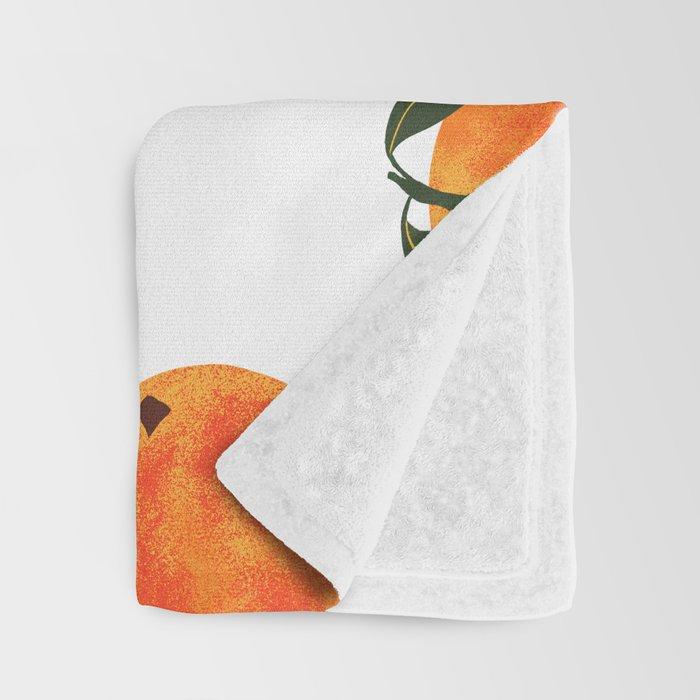 Peach Harvest Throw Blanket