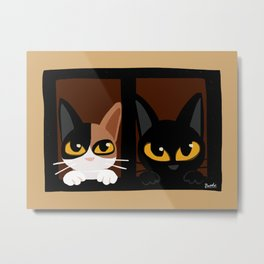 Lovely two cats Metal Print