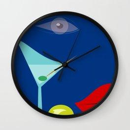Cocktail Martini Wall Clock