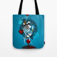 gaming Tote Bags featuring I ❤ GAMING by Mikhail St-Denis
