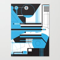 geo Canvas Prints featuring Geo. by 2EQUALS