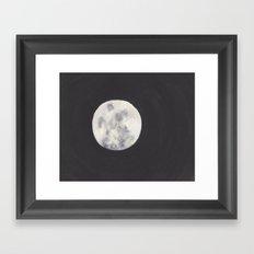 Moon Watercolor Framed Art Print