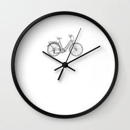 Vintage Bike - One Line Drawing Wall Clock