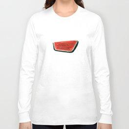 Fan's illustration - Watermelon ceramic in Taormina Sicilia Long Sleeve T-shirt