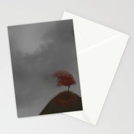 Standing Strong in a Fall Wind Stationery Cards
