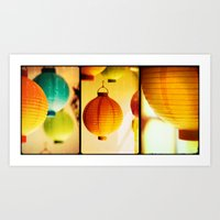 lanterns Art Prints featuring Lanterns by Jesse J. McClear