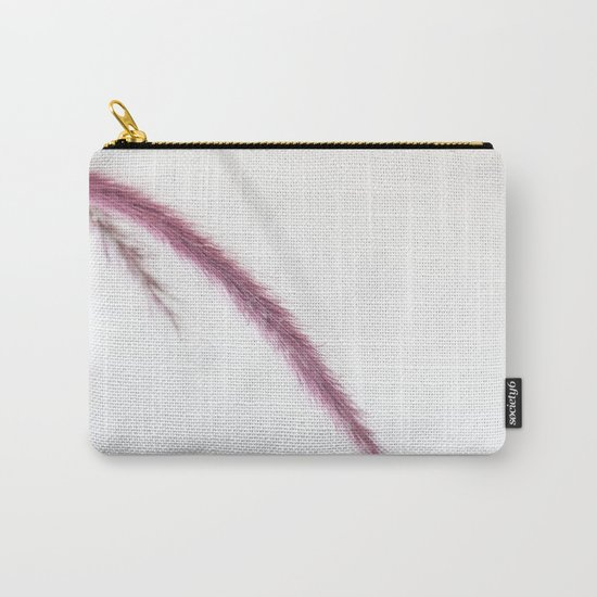 LIKE THE WIND - Purple Fountain Grass #1 #decor #art #society6 Carry-All Pouch