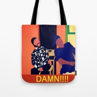 friday Tote Bags featuring Friday by Courtney Ladybug Johnson