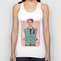 zayn Tank Tops featuring Zayn varsity by Coconut Wishes
