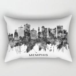 Memphis Tennessee Skyline BW Rectangular Pillow