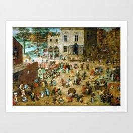 Pieter Bruegel the Elder Children's Games Art Print