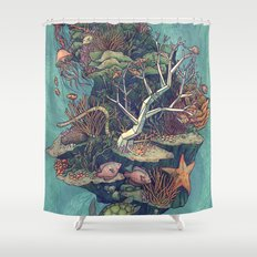 Coral Communities Shower Curtain