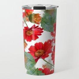 seamless   pattern of gerbera flowers . Endless texture Travel Mug