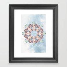 Subtle Pastel Mandala Framed Art Print