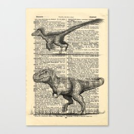Dictionary Dinosaurs Canvas Print
