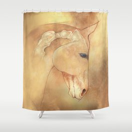 The Equine Poll Shower Curtain