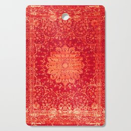 N69 - Oriental Heritage Vintage Orange Traditional Moroccan Farmhouse Style Artwork Cutting Board