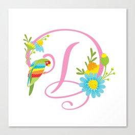 Letter D Monogram Canvas Print