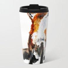 Woodland Fox (reverse edit) Metal Travel Mug