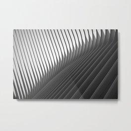 Architexture B&W Metal Print