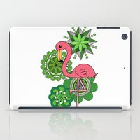 flamingo iPad Cases featuring Flamingo by tamaradeborah